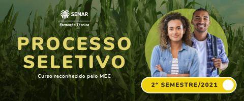 Banner de vitrine Curso Técnico em Agronegócio do SENAR e-Tec