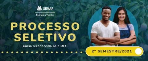 Banner de vitrine Curso Técnico em Fruticultura do SENAR e-Tec